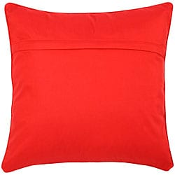 Red Diamond Embroidered Cushion Cover