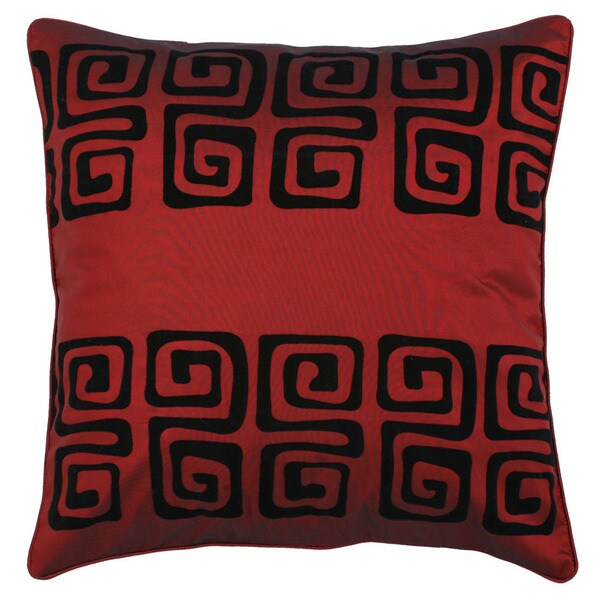 Black/ Burgundy Swirl Design Cushion Cover