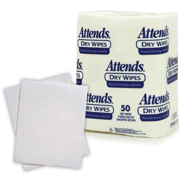 Attends Quickables Medium-weight Dry Wipes (Case of 1,000)