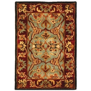 Safavieh Handmade Heritage Timeless Traditional Blue/ Red Wool Rug (2' x 3')
