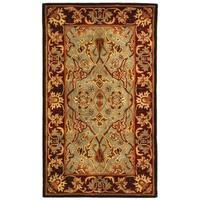 Safavieh Handmade Heritage Timeless Traditional Blue/ Red Wool Rug - 3' x 5'
