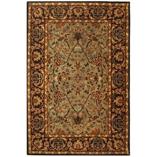 Safavieh Handmade Heritage Timeless Traditional Blue/ Red Wool Rug (4' x 6')