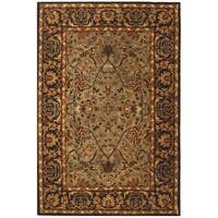 Safavieh Handmade Heritage Timeless Traditional Blue/ Red Wool Rug - 5' x 8'