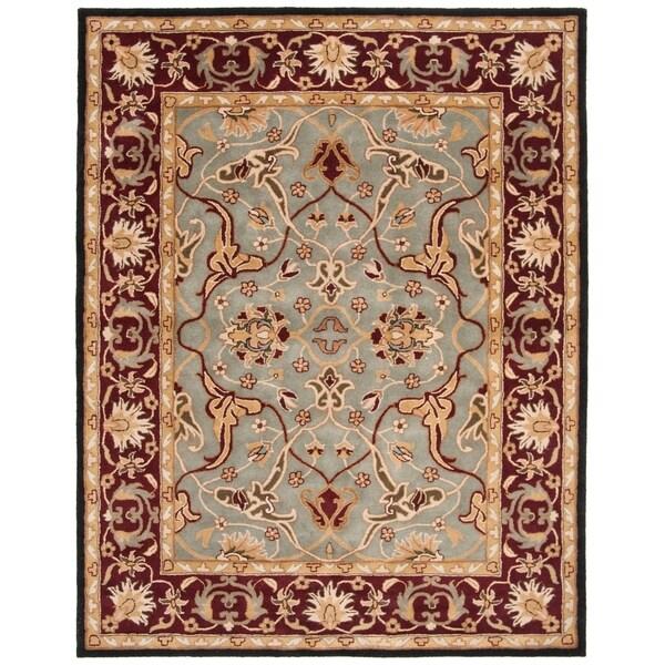 "Safavieh Handmade Heritage Timeless Traditional Blue/ Red Wool Rug - 7'6"" x 9'6"""