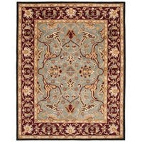 "Safavieh Handmade Heritage Timeless Traditional Blue/ Red Wool Rug - 8'-3"" x 11'"