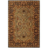 Safavieh Handmade Heritage Timeless Traditional Blue/ Red Wool Rug - 9'6 x 13'6