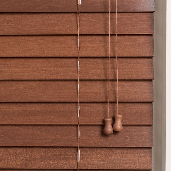 Arlo Blinds Customized 28 Inch Real Wood Window Blinds Free Shipping Today Overstock Com 11533844