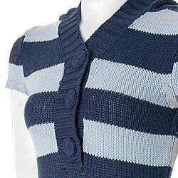 Derek Heart Juniors Acrylic Short-Sleeve Hooded Tunic