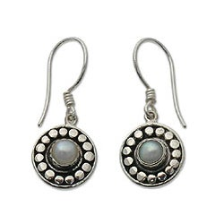 Sterling Silver 'Sunny Day' Pearl Earrings (Indonesia)