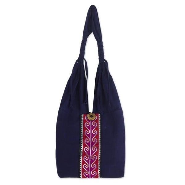 Cotton 'Rose River' Handbag (Thailand)