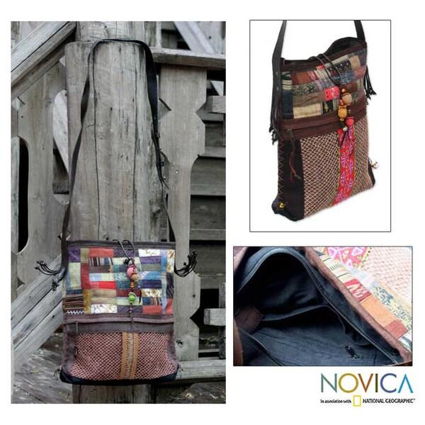 Hemp and Cotton 'Lanna Patchwork' Shoulder Bag (Thailand)