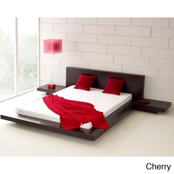 Fujian 3 Piece Queen Size Platform Bedroom Set   Free Shipping Today    Overstock.com   11534167