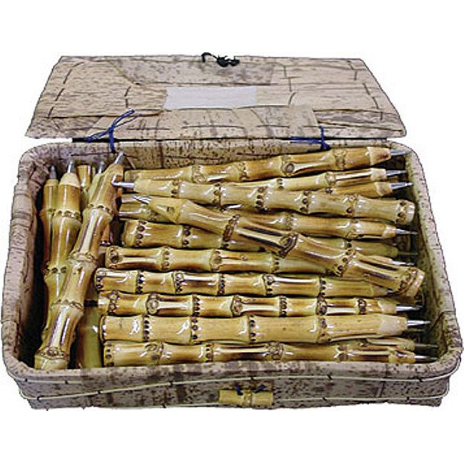 Set of 48 Box of Bamboo Pens (Vietnam)