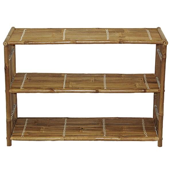Handmade Bamboo Media Shelf (Vietnam)