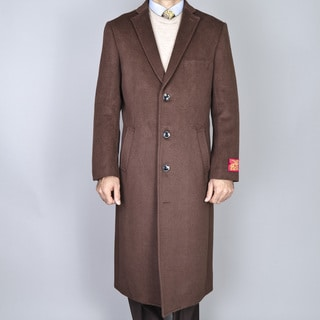 Men's Wool and Cashmere Winter Top Coat - Free Shipping Today ...