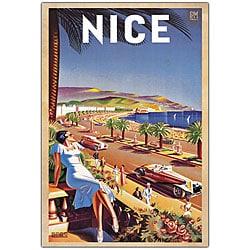 Eff de Hey 'Nice' Framed Canvas Art