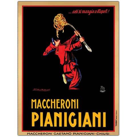 Achille Mauzan 'Maccheroni Pianigiani' Framed Art