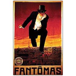 'Fantomas' Framed Canvas Art