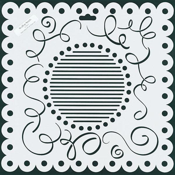 Crafter's Workshop Scallop Swirls 12x12-inch Templates