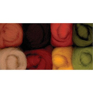 Wistyria Editions Assorted Wool Roving with Autumn Color Theme