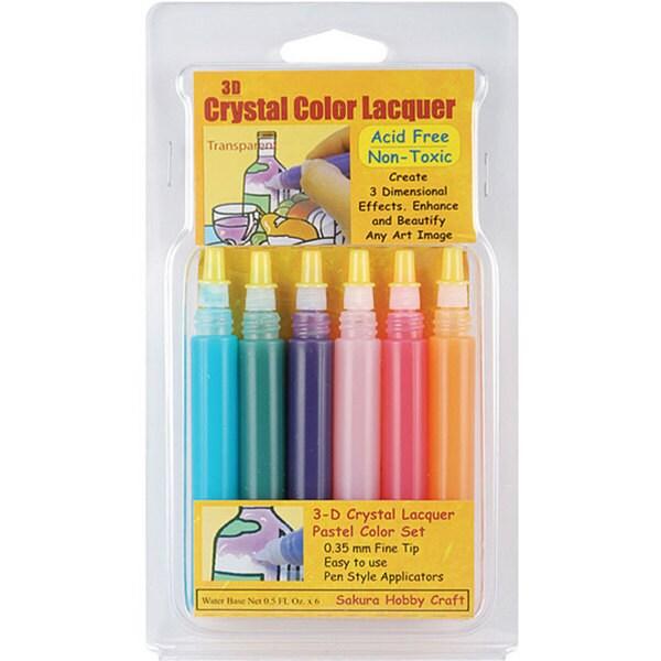 3D Crystal Lacquer 6-piece Pastel Color Set