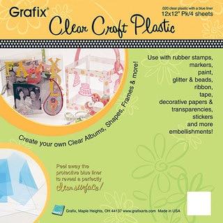 Grafix Clear Craft 12x12-inch Plastic Sheets