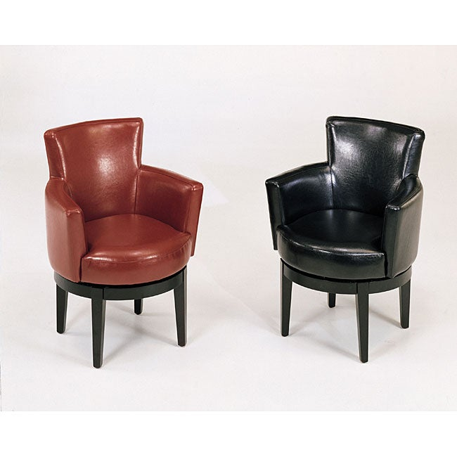 Shop Bicast Leather Swivel Club Chair Free Shipping