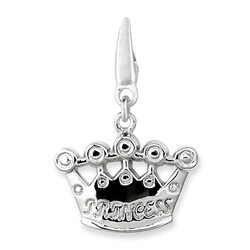 Sterling Silver Princess Crown Charm