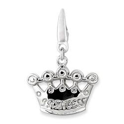 Sterling Silver Princess Crown Charm