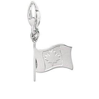 Sterling Silver Canadian Flag Charm