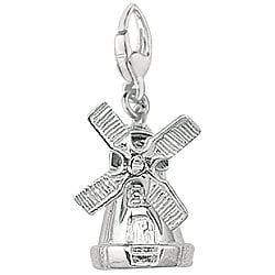 Sterling Silver Windmill Charm