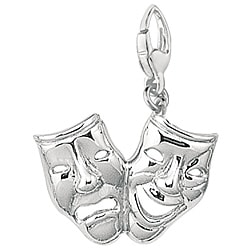 Sterling Silver Comedy/ Tragedy Charm