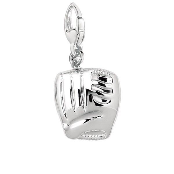 Sterling Silver Baseball Glove Charm