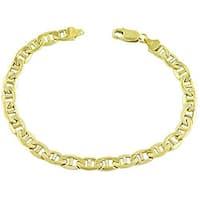 Fremada 14k Yellow Gold 8.5-inch Mariner Bracelet