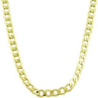 Link to Fremada 14k Yellow Gold 3mm Curb Chain (18-24 inches) Similar Items in Men's Jewelry