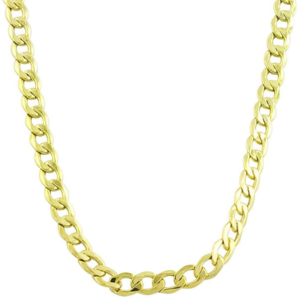 Fremada 14k Yellow Gold 3mm Curb Chain (18-24 inches)