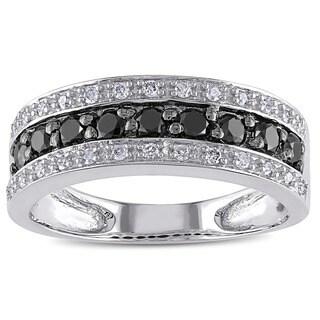 Miadora 14k Gold 3/4ct TDW Black and White Diamond Ring (H-I, I1-I2)