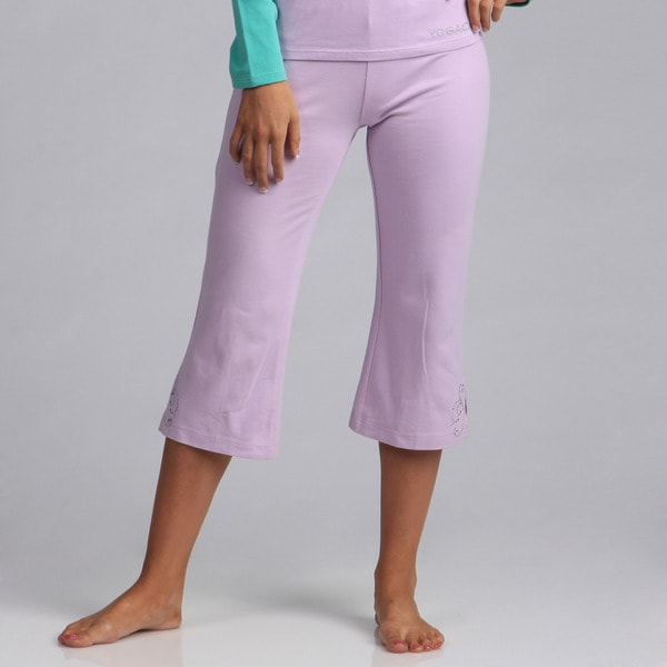 Yogacara Women's Lilac Capri Pants