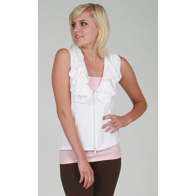 Yogacara Women's Sporty Ruffled Vest
