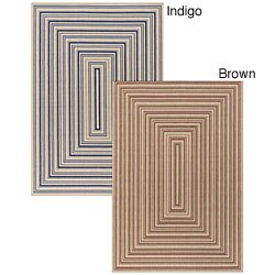 Artist's Loom Indoor/Outdoor Contemporary Geometric Rug (5'2 x 7'5)