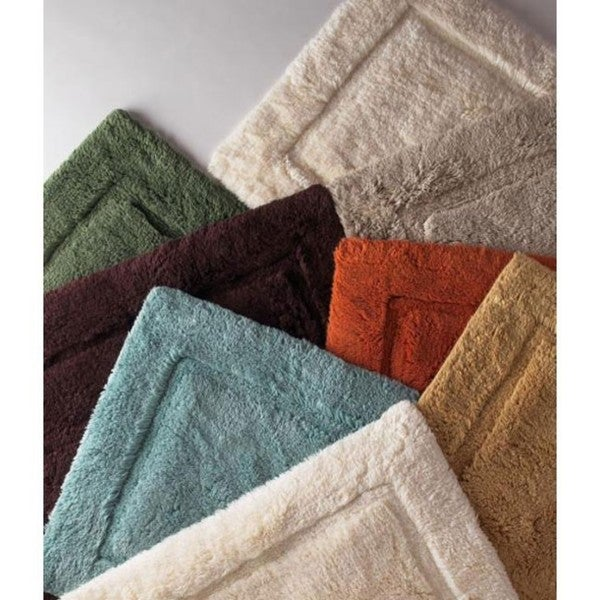 100-percent Egyptian Cotton Plush No-slip 24 x 34 Bath Rug