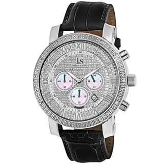 Joshua & Sons Men's Diamond Chronograph Leather-Strap Watch|https://ak1.ostkcdn.com/images/products/3465759/P11538110.jpg?impolicy=medium