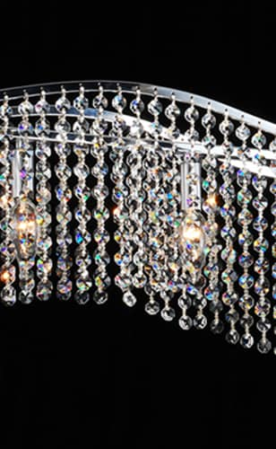 Crystal 5-light Chandelier - Thumbnail 1