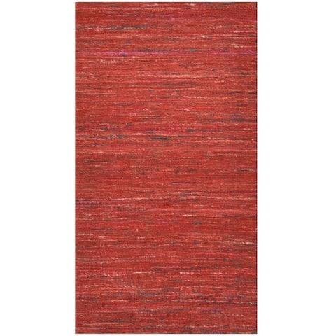 Handmade Chenille Flatweave Rug (India) - 2' x 3'6