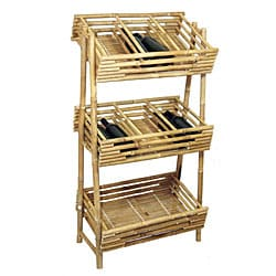 Bamboo54 18 Bottle Bamboo Wine Rack (Vietnam)