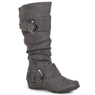 Journee Collection Women's 'Jester-01' Slouch Buckle Boot|https://ak1.ostkcdn.com/images/products/3469442/P11541186.jpg?impolicy=medium