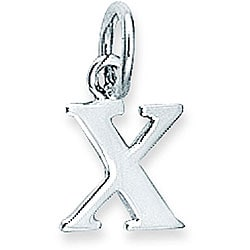 Sterling Silver Initial 'X' Charm