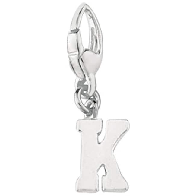 Sterling Silver 'K' Charm