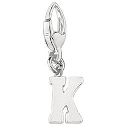 Sterling Silver 'K' Charm
