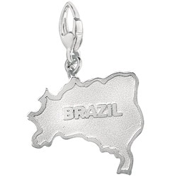 Sterling Silver Brazil Charm